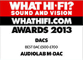 WHAT HIFI AWARDS 2013